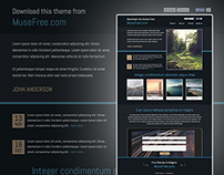 Download Adobe Muse One Page Photography Resume