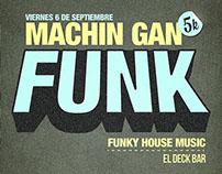 """Machin gan"" Funk - Poster design"