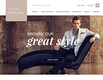 Web Design for louisraphaelstore.com