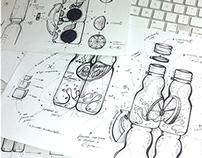 Petry™ Juices // Packaging design