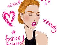 Fashion illustration for FashionArt School in Belgorod