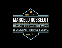 Marcelo Rosselot at El Deck - Poster design