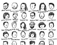 53 Portraits of One Minute Wonder   Illustration