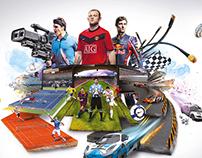 School Project ( ESPN 3D Poster )