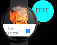 Moto 360 Mock up [Free]