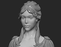Girl Bust Statue