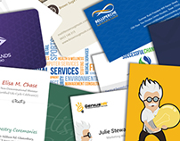 Some of my freelance designs for business card