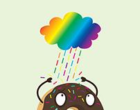 Rainbow sugar rain
