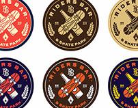 """Logo for """"Riders Bar & Skate park"""""""