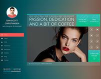 iSPY - Resume/CV/Blog/Portfolio PSD
