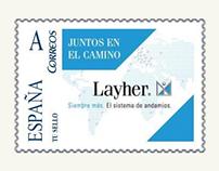 Sello de correos personalizado para Layher, S.A.