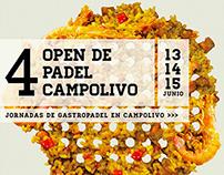 Cartel · 4 Open de pádel Campolivo
