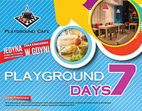 Playground Cafe - Poster of Weekday Events