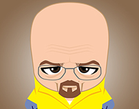 Big Head Characters - Breaking Bad, Mad Men, Big Bang
