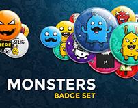 Monsters Badge Set