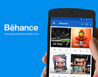 Behance New App Concept (Material Design)