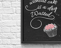 Typographic Chalk Boards for a Bakery