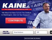 Senator Tim Kaine | Landing Page 2014