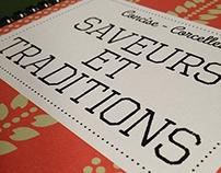 Graphic design et illustrations d'un livre de recettes