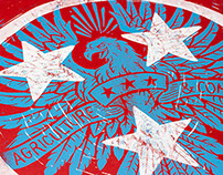 Tennessee Tristar - Block Print