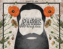 JP Harris Gig Poster