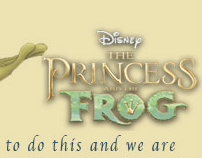 Princess and the frog Email Blast