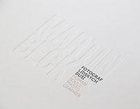 MARTIN BECK: Photographer of Human Souls, bookdesign
