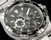 casio edifice wrist watch product shot