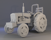 3D Vehicle & Print: Tractor