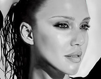 Jessica Alba Pen Tablet Drawing