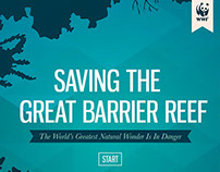 Saving The Great Barrier Reef App interface