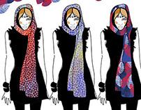 accessories design. textile design. sketches