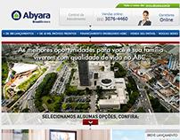 Cardápio de produtos Abyara