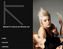 Kerry's Hair & Makeup Website Design