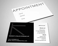 Kerry's Hair & Make-up Business Card