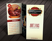 Tri-fold Restaurant Food Menu Template