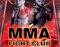 UFC MMA Fight Club Night Flyer PSD Template