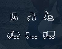 Dirty Tracks Free Flat Icon Set