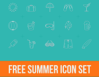 Free Summer Icons Set