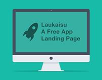 Laukaisu Landing Page