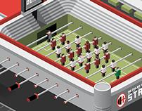 AC Milan Table Football Stadium