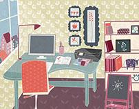 Kids rooms. Adv for HP printer