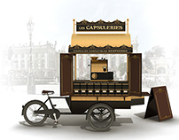 Les Capsuleries - Travelling shop Project - 2013