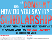 Say It With A Condom - Scholarship Flyer