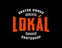Lokál Skateshop - Flyer & Logo