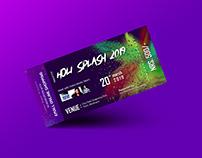 Holi Splash 2019 Ticket Design