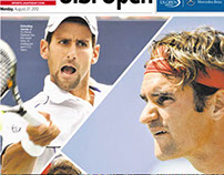 U.S. Open Newspage Cover Layout Design