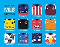 2014-15 MLS home kits