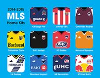 2014-15 MLS home kits