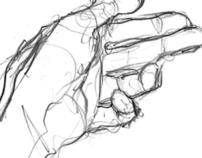 Speed training - Hand drawings